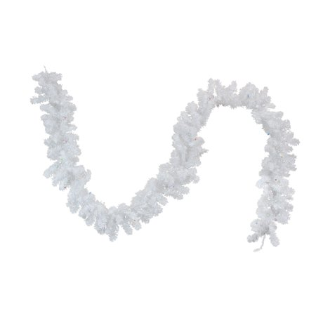 """9' x 10"""" Battery Operated Pre-Lit LED White Artificial Christmas Garland - Multi - image 2 of 2"""