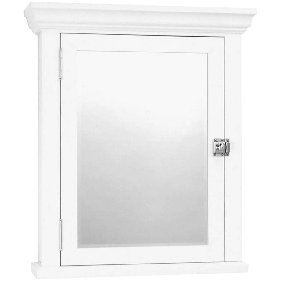 Zenith MC10WW White Medicine Cabinet with Decorative Pediment by Zenith Products