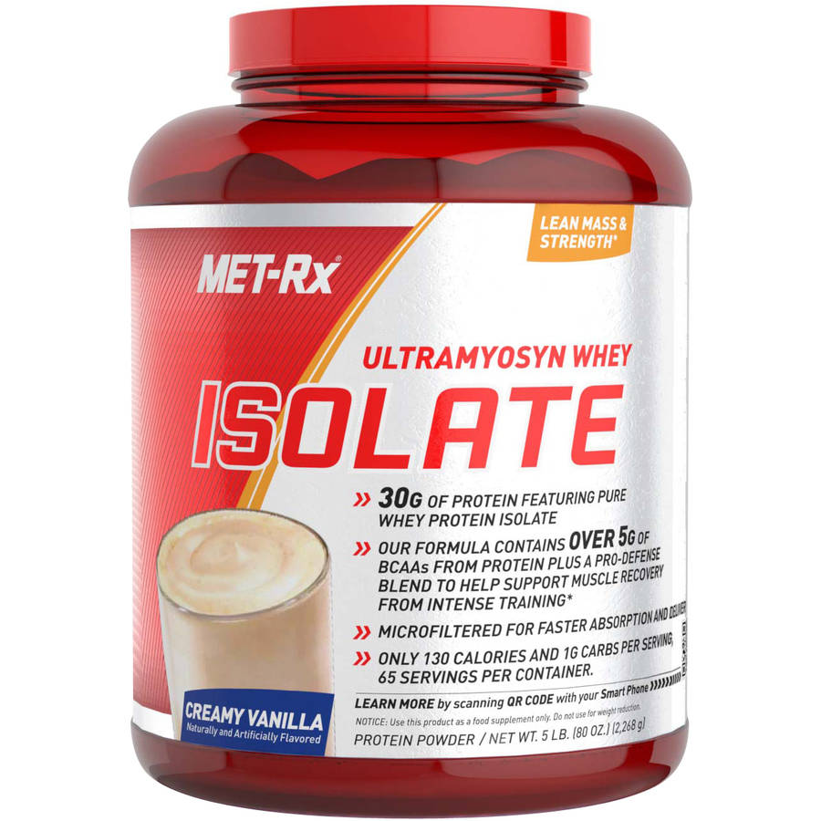 MET-Rx Ultramyosyn Whey Isolate Creamy Vanilla Protein Powder, 5lbs