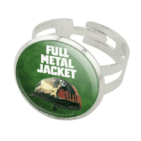Full Metal Jacket Born to Kill Silver Plated Adjustable Novelty