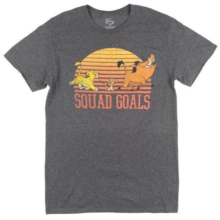 Disney Lion King Squad Goals T-Shirt Mens Heather Charcoal