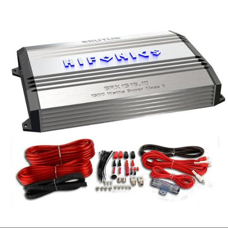 Hifonics BRX1516.1D Monoblock Amplifier Class D One Channel Amp + Wiring Kit