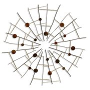 Contemporary Metal Wall Sculpture - Round