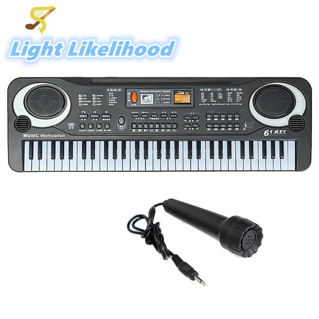 Multifunction and Delicate 61 Keys Digital Music Electronic Keyboard Board Toy Gift Electric Piano Organ for Kids