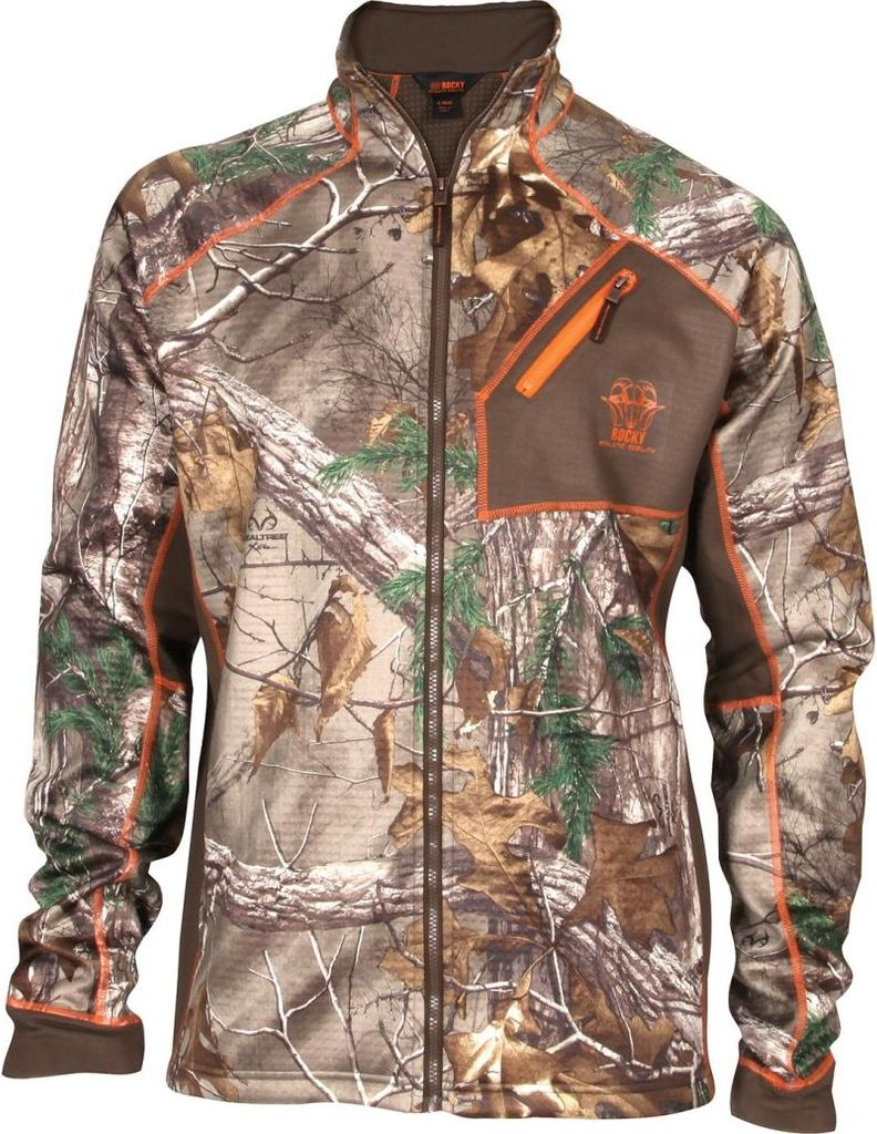Rocky Outdoor Jacket Men Athletic Mobility Fleece Realtree HW00124 by Rocky