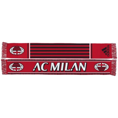 Ac Milan Soccer Shirts - AC Milan Soccer Futbol Adidas Authentic S387 Jacquard Team Scarf