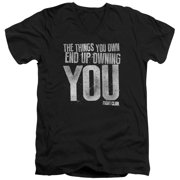 Fight Club - Owning You - Slim Fit V Neck Shirt - Large