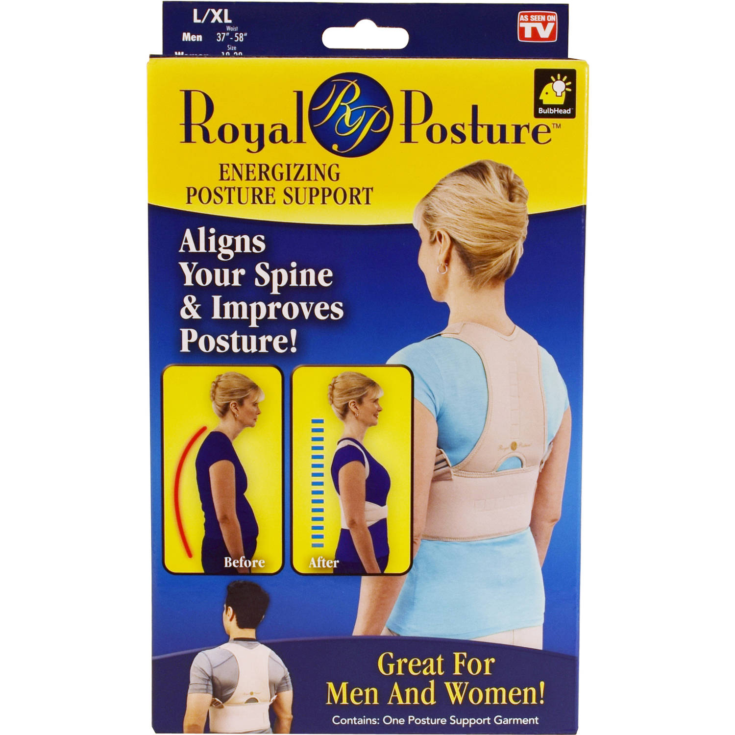 Royal Posture Back Support, L/XL
