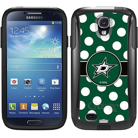 Dallas Stars Polka Dots Design on OtterBox Commuter Series Case for Samsung Galaxy S4 (S4 Dallas Halloween)