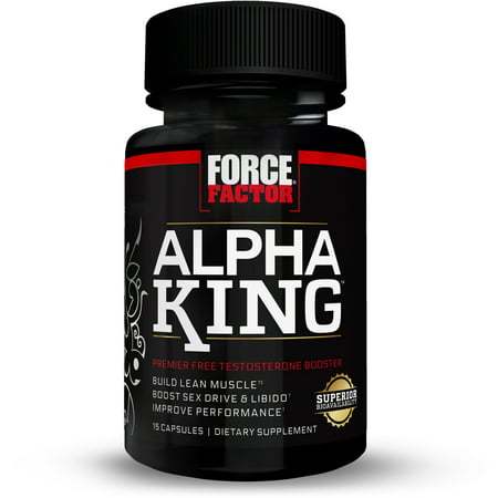 Force Factor Alpha King Free Testosterone Booster Featuring Alphafen Capsules, 15