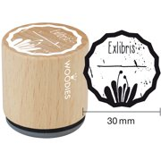 """Woodies Mounted Rubber Stamp 1.35""""-Exlibris 1"""