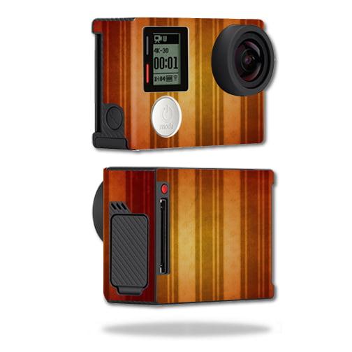 Mightyskins Protective Vinyl Skin Decal Cover for GoPro Hero4 Black Edition Camera Digital Camcorder wrap sticker skins Burnt Stripes