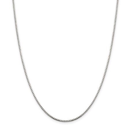925 Sterling Silver 1.5mm 8 Sided Link Box Chain Necklace 30 Inch Pendant Charm Octagonal Gifts For Women For (Figure Eight Pendant Necklace)