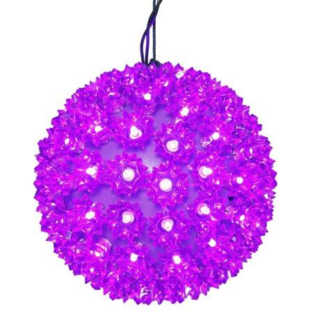 10 led purple lighted hanging starlight sphere ball christmas decoration - Starlight Sphere Outdoor Christmas Decoration
