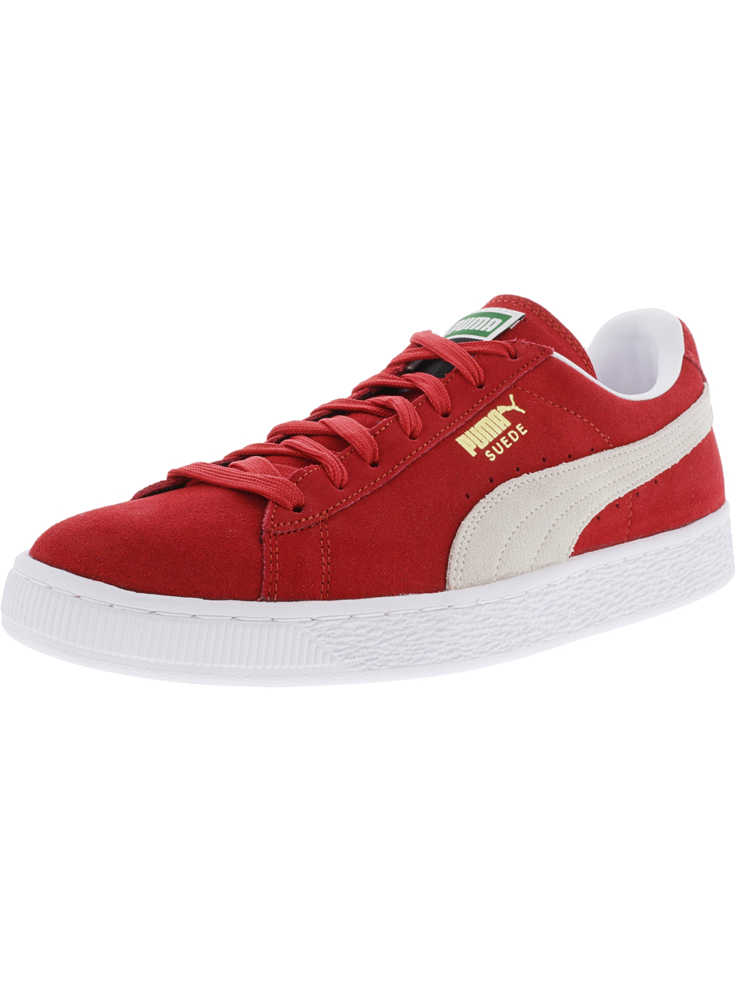 Puma Men's Suede Classic + High Risk Red / White Ankle-High Fashion Sneaker - 8.5M