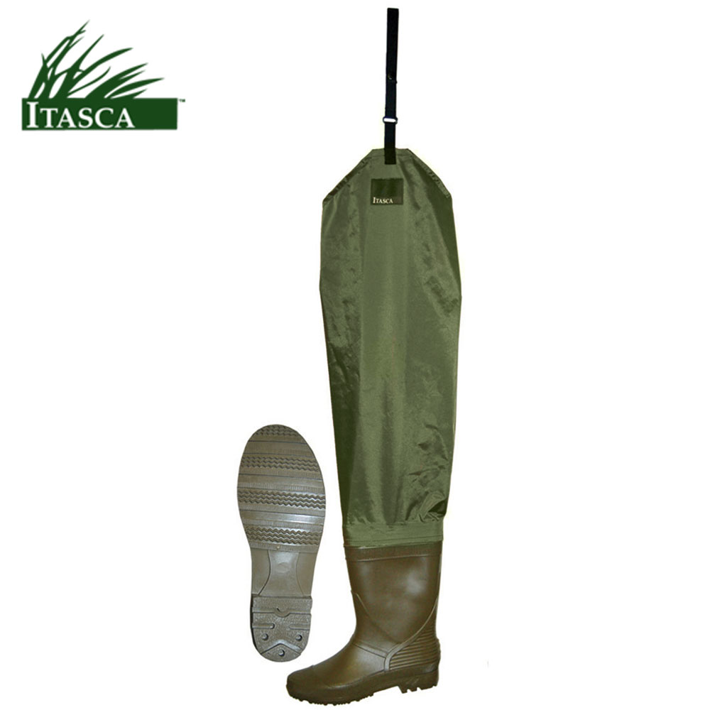 Itasca PVC Hip Waders (10)- Brown/Green