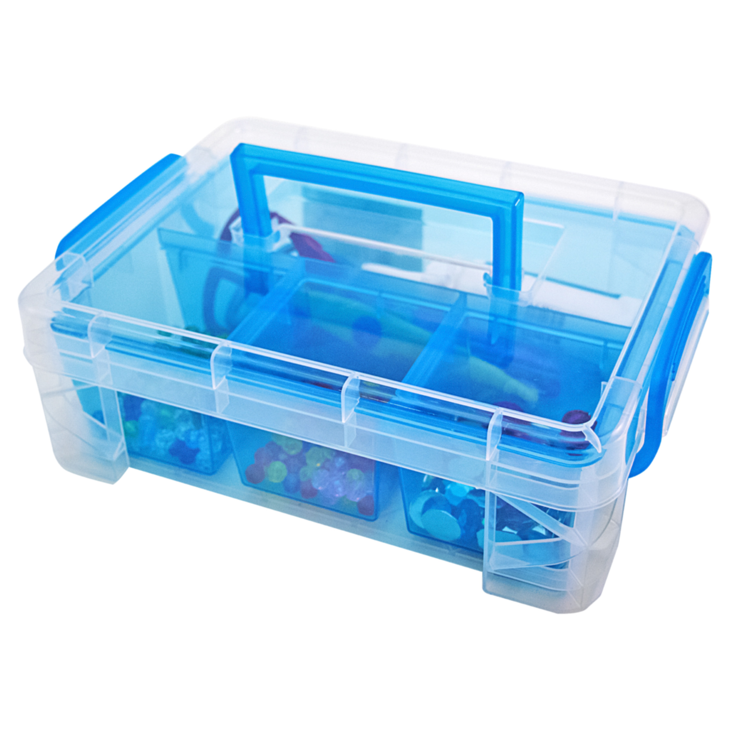 Small Super Stacker Divided Supply Box, 1 Each