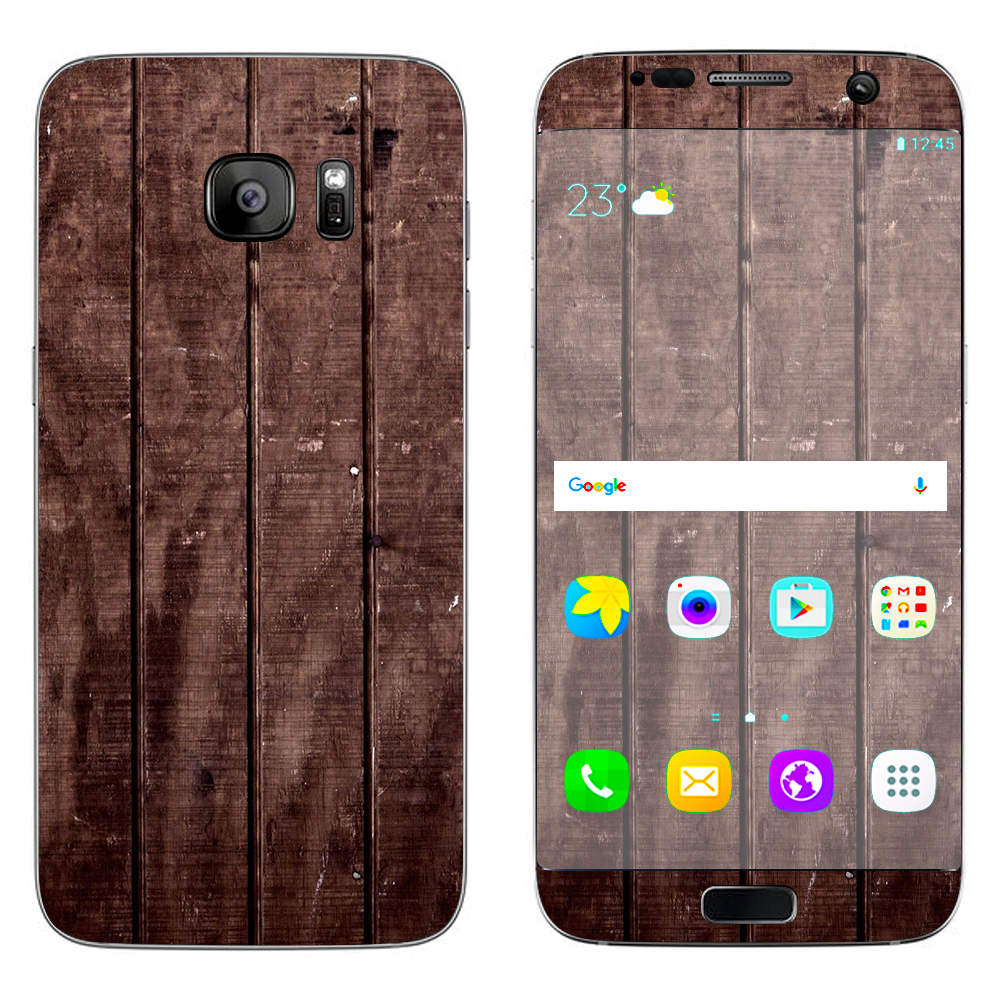 Skins Decals For Samsung Galaxy S7 Edge / Wood Floor