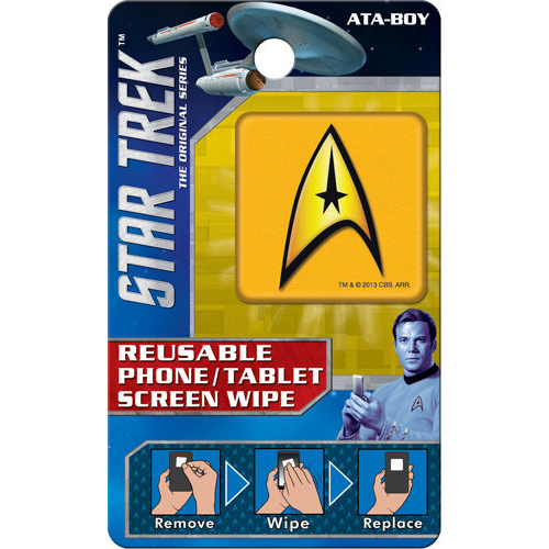 Star Trek Command Insignia Reusable Phone/Tablet Screen Wipe