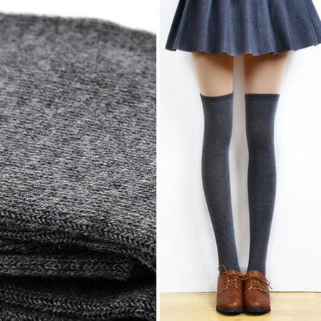 0a806d0667a40 Iuhan Women Sexy Thigh High Over The Knee Socks Long Cotton Stockings DG -  Walmart.com