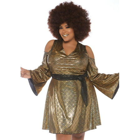 Leg Avenue Womens Plus 70s Disco Costume - Plus Size 70s Costumes