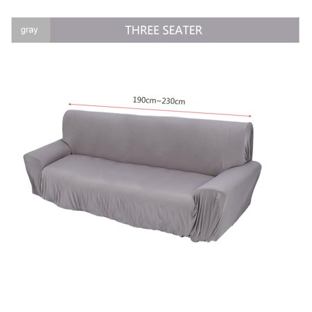Cool Yosoo Elastic Sofa Chair Slipcover Solid Sectional Sofa Couch Covers For Living Room Three Seater Gray Alphanode Cool Chair Designs And Ideas Alphanodeonline
