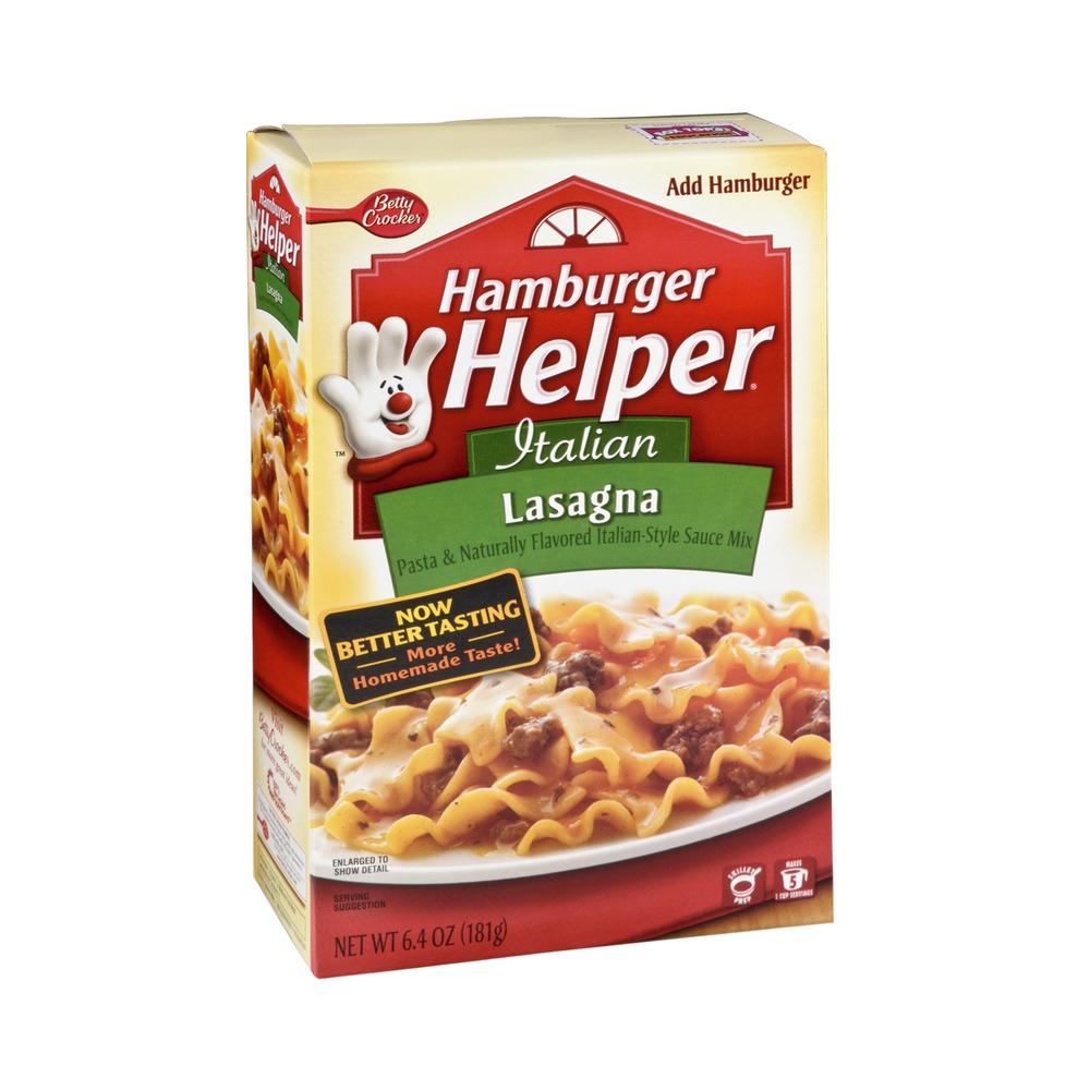 Betty Crocker Hamburger Helper Italian Lasagna, 6.4 OZ ...