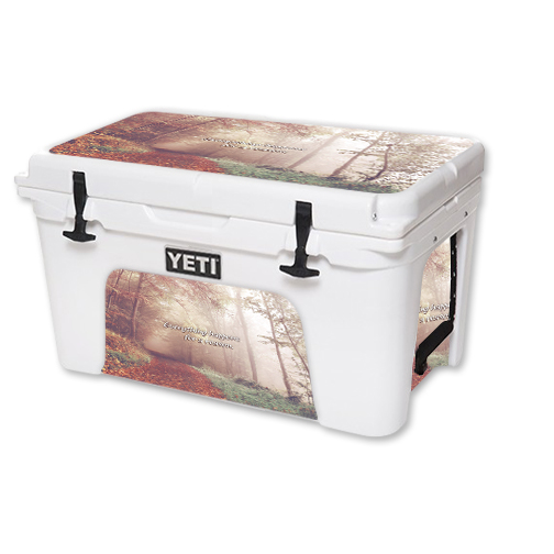 MightySkins Protective Vinyl Skin Decal for YETI Tundra 45 qt Cooler wrap cover sticker skins Happens For A Reason