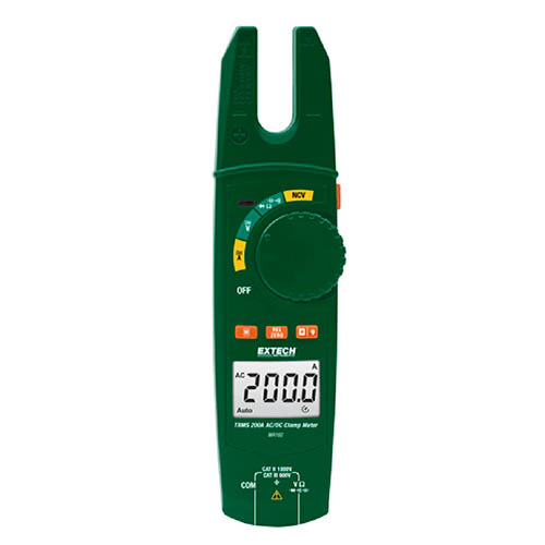 Extech MA160 200A True RMS AC/DC Open Jaw Clamp Meter wit...