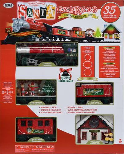 Eztec Santa Express Christmas Train Set, 35 Piece Set, 3+ Years by Scientific Toys, Ltd.