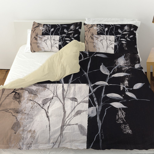Manual Woodworkers & Weavers African Leaf Abstract Duvet Cover