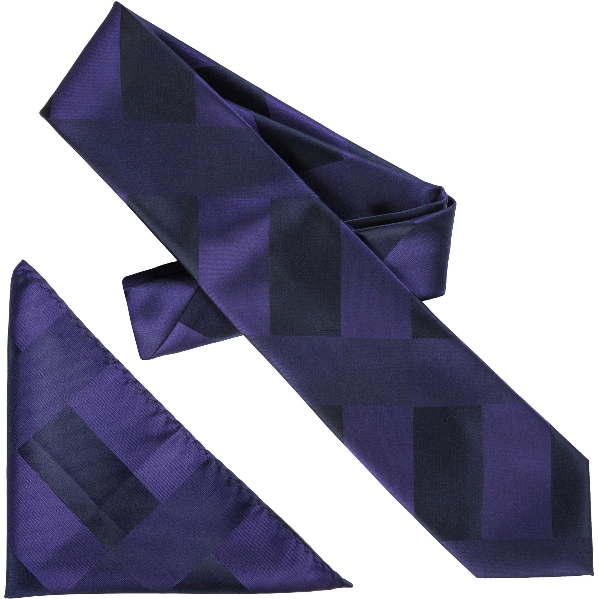 Daxx Men's Mod Print Microfiber Tie and Hanky Set