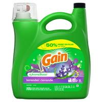 Gain Lavender HE, Liquid Laundry Detergent, 150 Fl Oz 96 loads