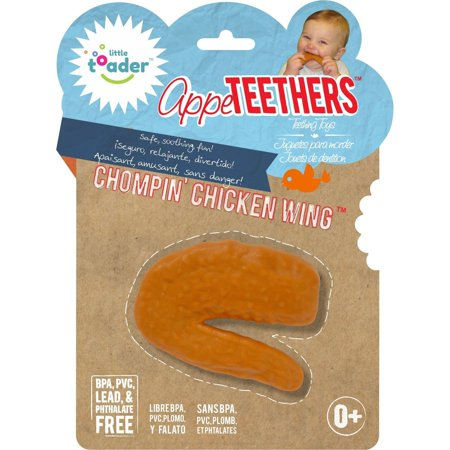 Little Toader Appe TEETHERS Teething Toys, Chompin' Chicken Wing
