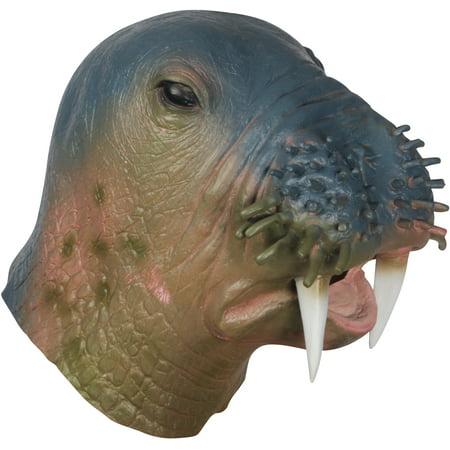 Loftus Halloween Walrus Costume Full Head Mask, Blue Brown, One Size