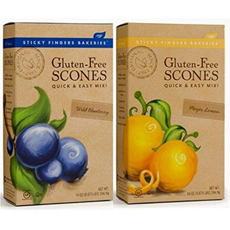 Sticky Fingers Bakeries Gluten Free Scone Variety Mix, Meyer Lemon and Wild Blueberry (Pack of 2) 2 Pack