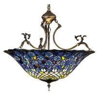 """Meyda Tiffany 38159 Mahogany Bronze 3 Light 24"""" Wide Pendant"""