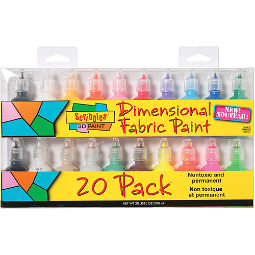 I Love To Create Scribbles 3D Fabric Paint 1 oz, 20/pkg