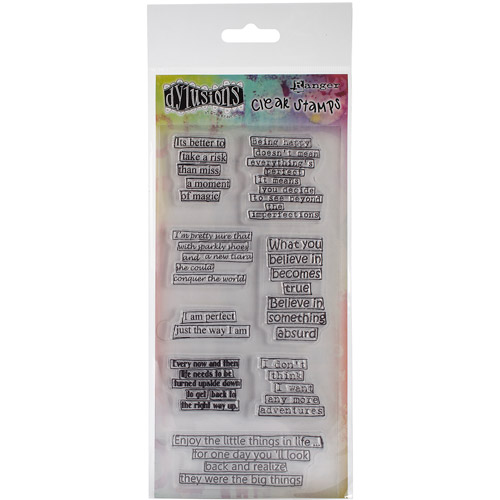 "Dyan Reaveley's Dylusions Clear Stamps, 4"" x 8"", Clearly Quotes"