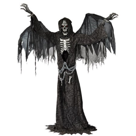 Angel of Death Life Size Animated Halloween Prop - Funny Animated Halloween Pics
