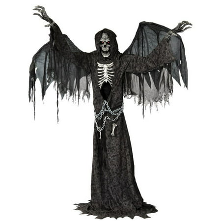 Angel of Death Life Size Animated Halloween - Halloween Animated Girl On Swing