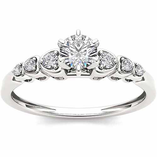 Imperial 1/3 Carat T.W. Diamond Solitaire 10kt White Gold Engagement Ring