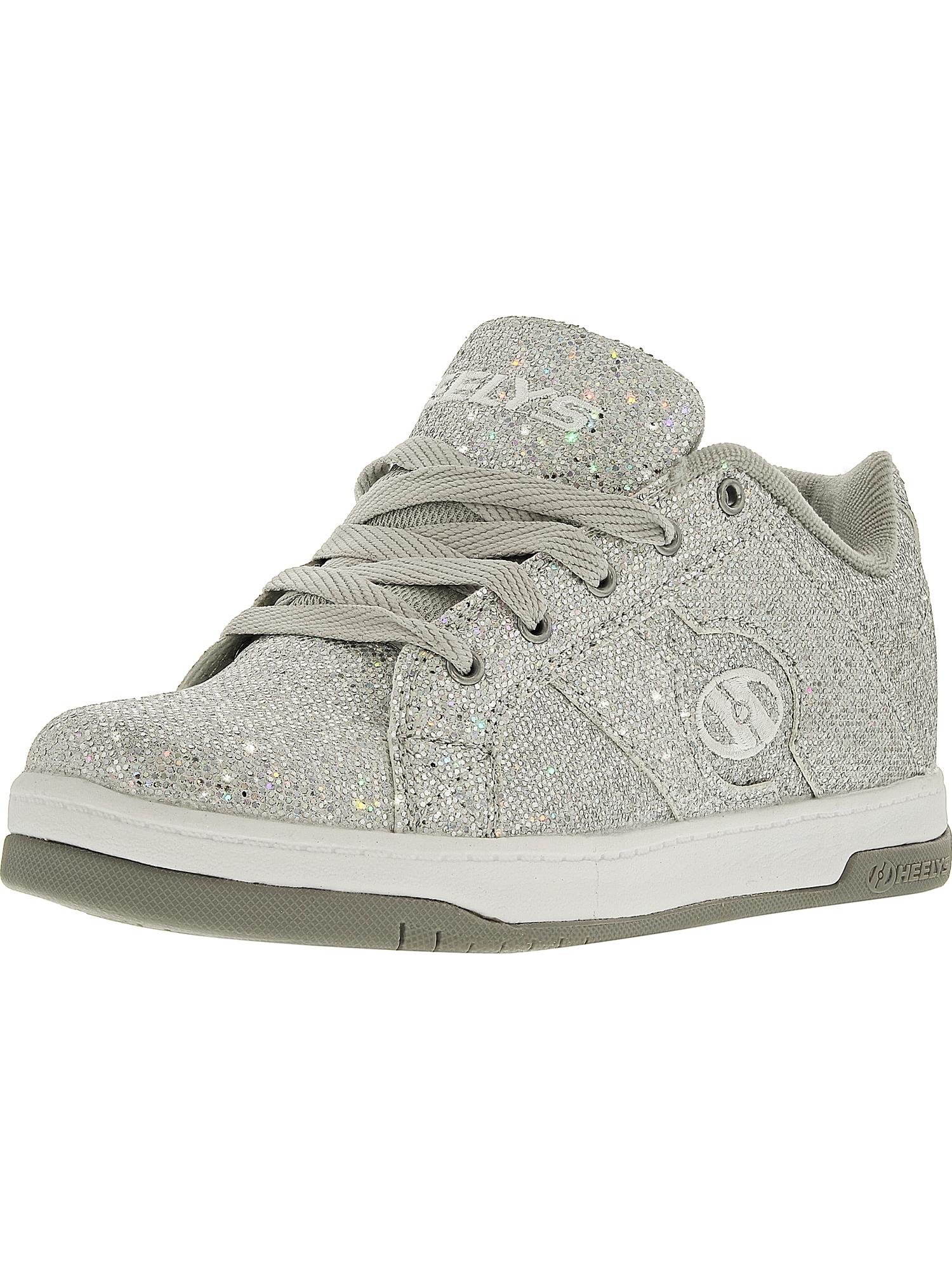 Heelys Split Silver Disco Glitter Ankle-High Fashion Sneaker - 5M
