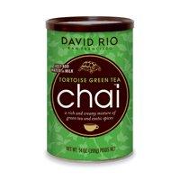David Rio Tortoise Green Tea Chai, Powdered Tea, 14 Oz