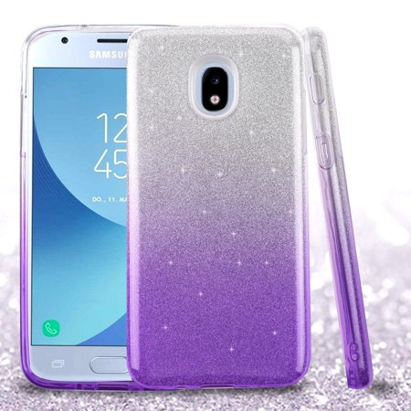 hot sales 91bfd d6ce4 Galaxy J3 2018 Galaxy J3 Star Case by Insten Gradient Glitter Case Cover  For Samsung Galaxy Express Prime 3/J3 (2018)/J3 Achieve/J3 Star