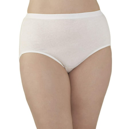 a27aae037b5181 Fit for Me by Fruit of the Loom - Women's Plus Cotton Brief Panties - 5 Pack  - Walmart.com