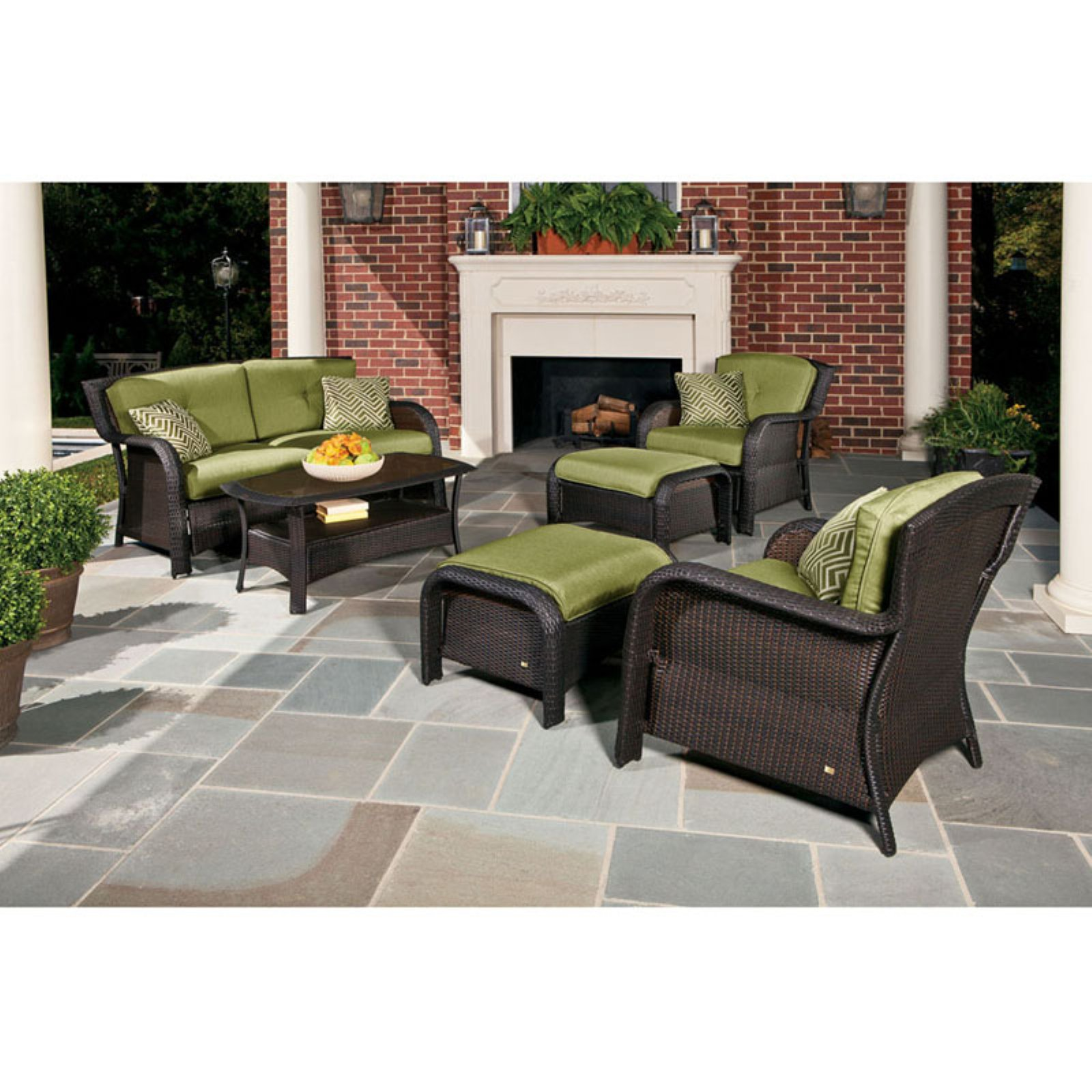 Hanover Strathmere 6-Piece Patio Seating Set by Hanover