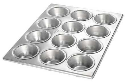 12 Cup, 3.8 oz. Muffin Pan, Chicago Metallic, 46120 by Chicago Metallic