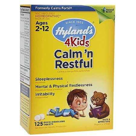Hylands 4 Kids Calm   Restful Quick Dissolving Tablets 125 Ea  Pack Of 2