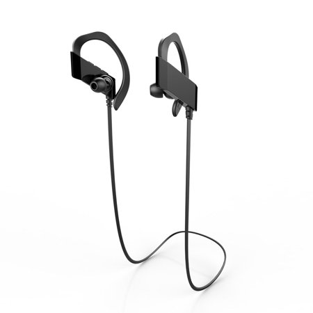 Wireless Bluetooth Headphones - Sweatproof Running Earbuds - w Mic & 3D Stereo Hi-Fi Sound, Best In Ear Sport Earphones 10 Hours Play for Running, Cycling, Gym, for iPhone, iPad, Android,